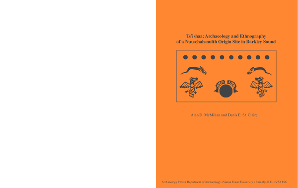 PDF) Ts'ishaa: Archaeology and Ethnography of a Nuu-chah-nulth