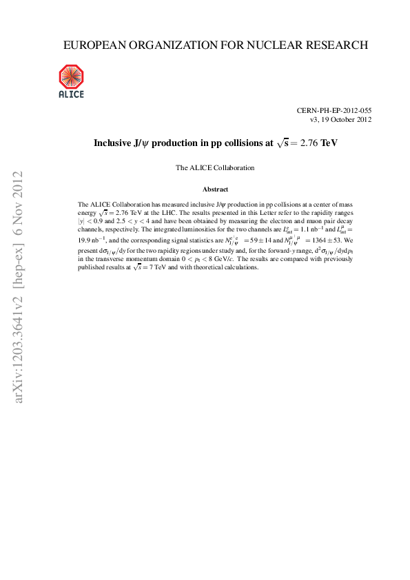 PDF) Inclusive J/psi production in pp collisions at sqrt (s