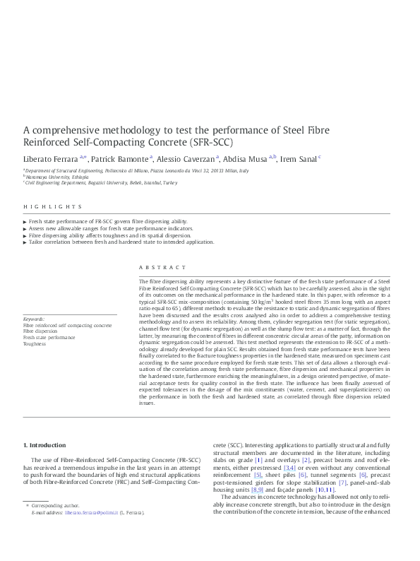 PDF) A comprehensive methodology to test the performance of Steel