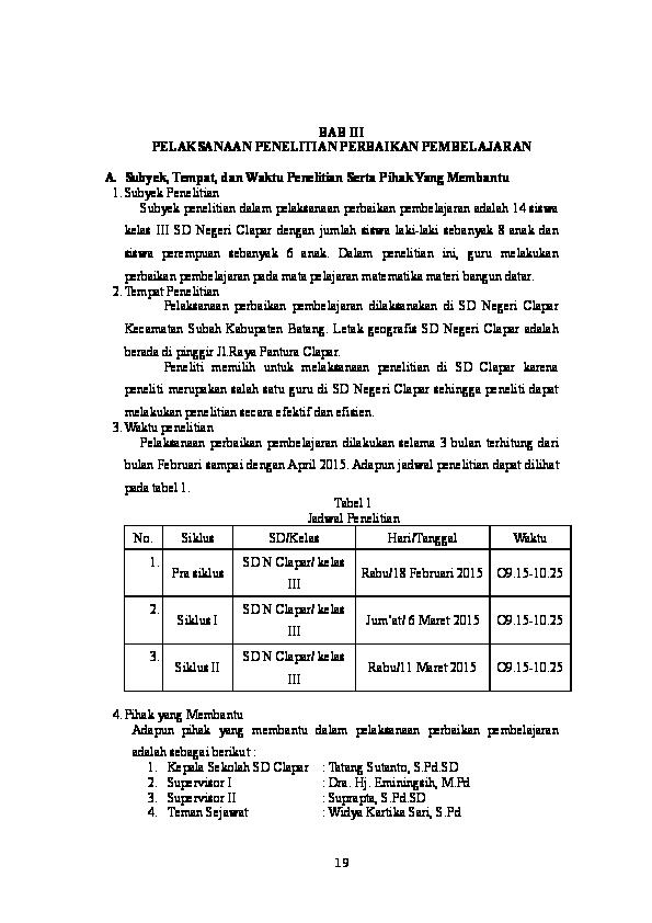 Skripsi Bab 3 Ptk Ide Judul Skripsi Universitas