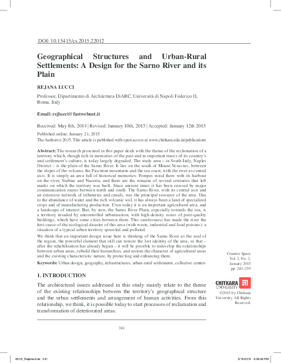 PDF) Geographical Structures and Urban-Rural Settlements: A
