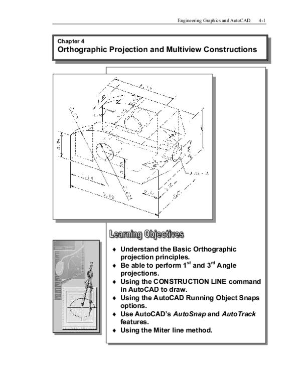 Pdf Engineering Graphics And Autocad 4 1 Orthographic Projection And Multiview Constructions Aditya Nur Hidayat Academia Edu