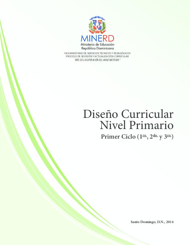 Pdf Diseño Curricular Nivel Primario Primer Ciclo 1 Ro