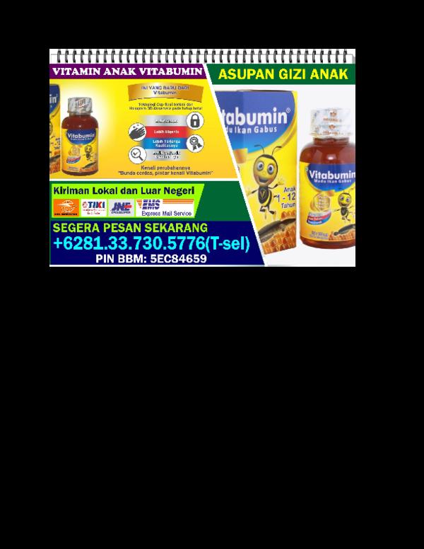 Doc 62813 3730 5776 T Sel Jual Vitabumin Padang Disrtibutor