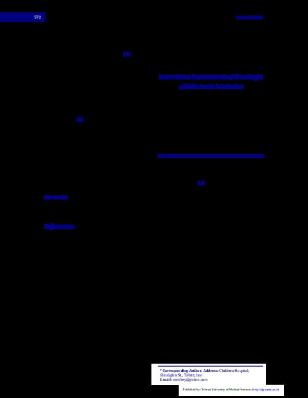 PDF) Intermittent gastrointestinal bleeding in a child: leech