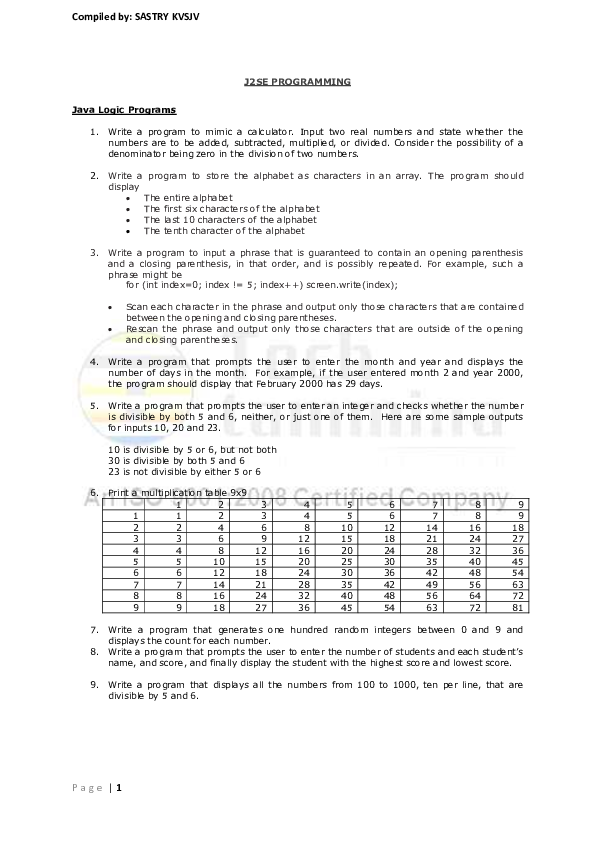 PDF) Compiled by: SASTRY KVSJV   shiva jay - Academia edu