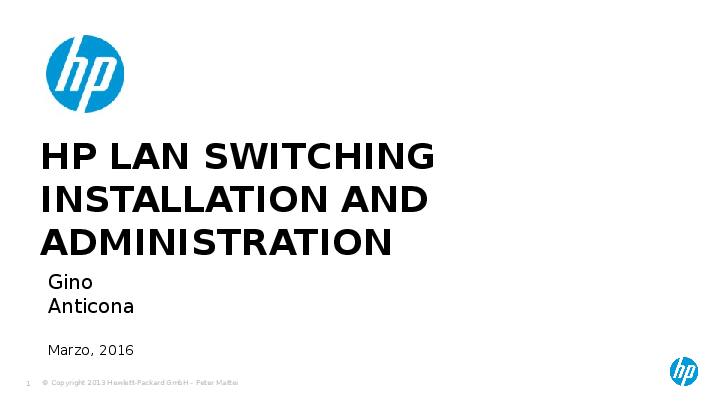 PPT) HP LAN Switching Installation and Administration | Jandir