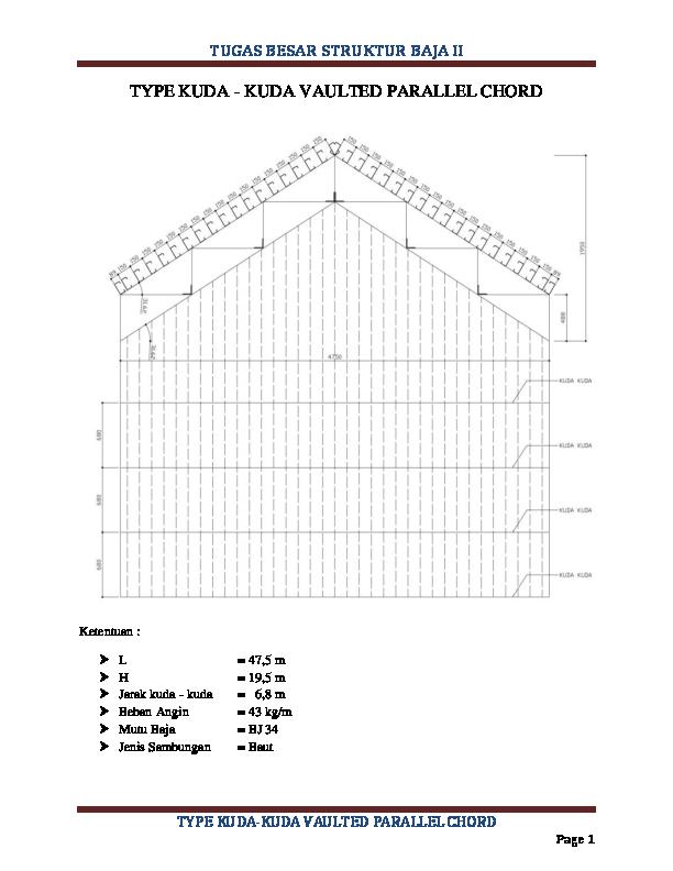 Contoh Tugas Besar Struktur Baja 1