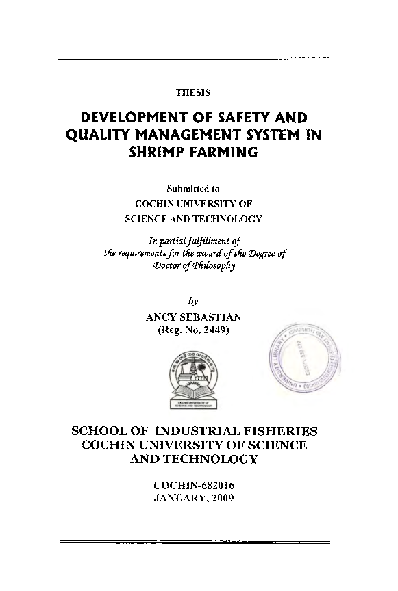 PDF) DEVELOPMENT OF SAFETY AND QUALITY MANAGEMENT SYSTEM IN
