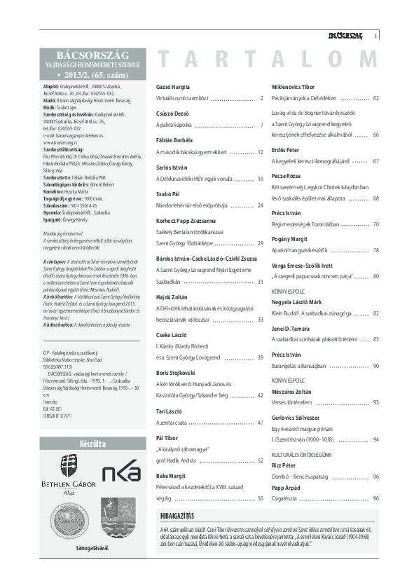 a613c6af8d PDF) A második bácskai gyermekkert | Fábián Borbála - Academia.edu