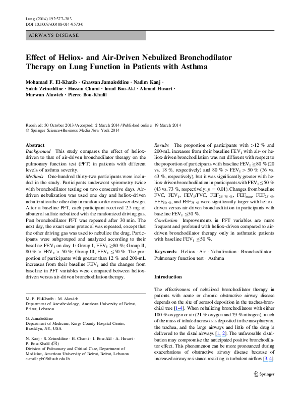 PDF) Effect of Heliox- and Air-Driven Nebulized Bronchodilator
