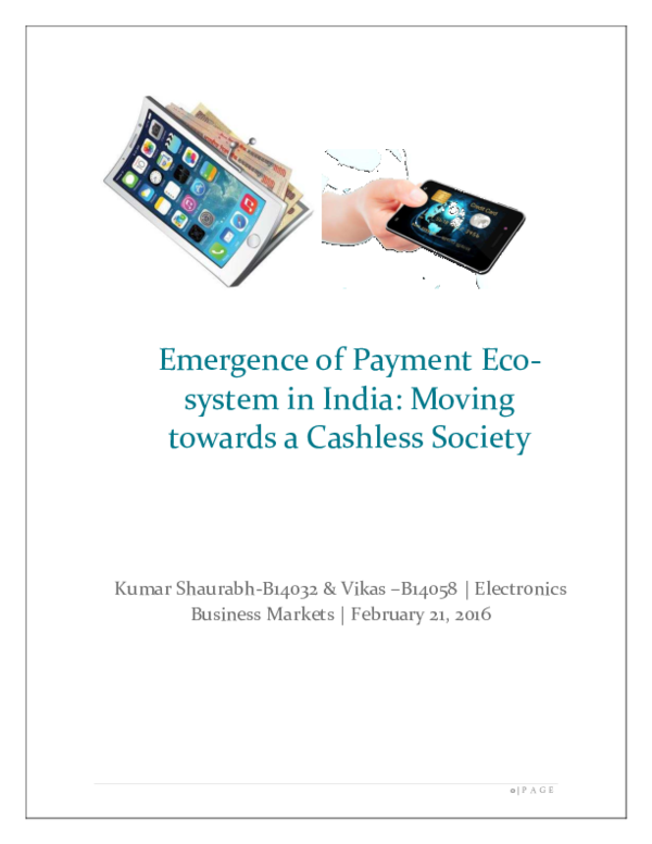 PDF) Emergence of Payment Eco-system in India: Moving towards a