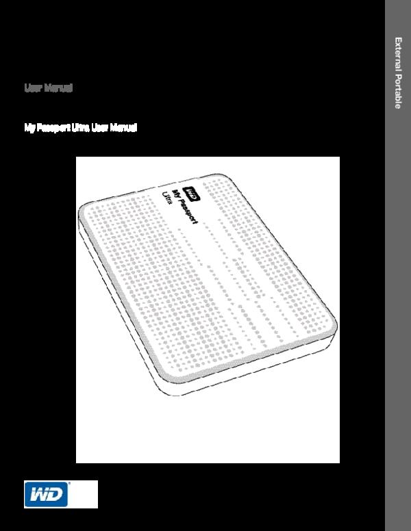 PDF) Portable Hard Drive User Manual My Passport Ultra User Manual