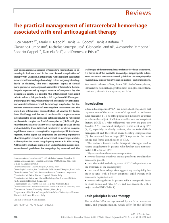 activated prothrombin complex concentrates for the reversal of anticoagulant-associated coagulopathy