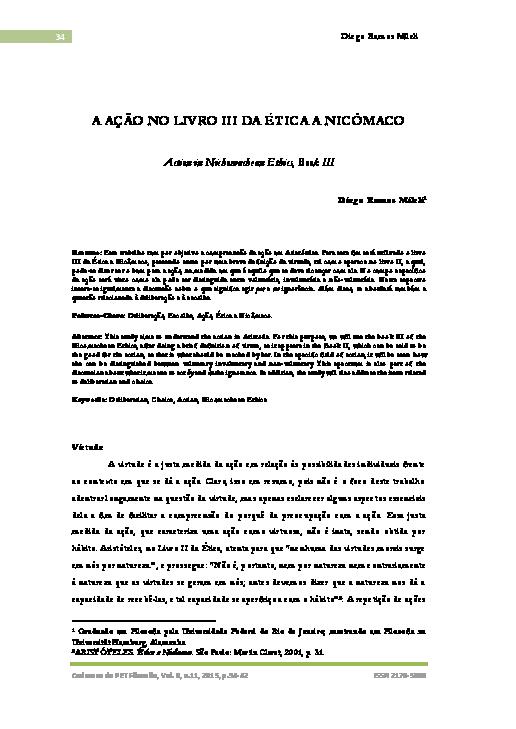 Livros de Filosofia para Download tica a Nic maco - Arist teles
