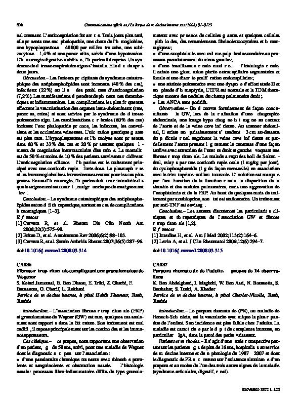 PDF) Purpura rhumatoïde de l'adulte. À propos de 14 observations | K ...