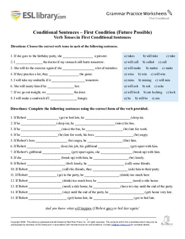 (PDF) Conditional Handouts p13 ESL Library | Freddy