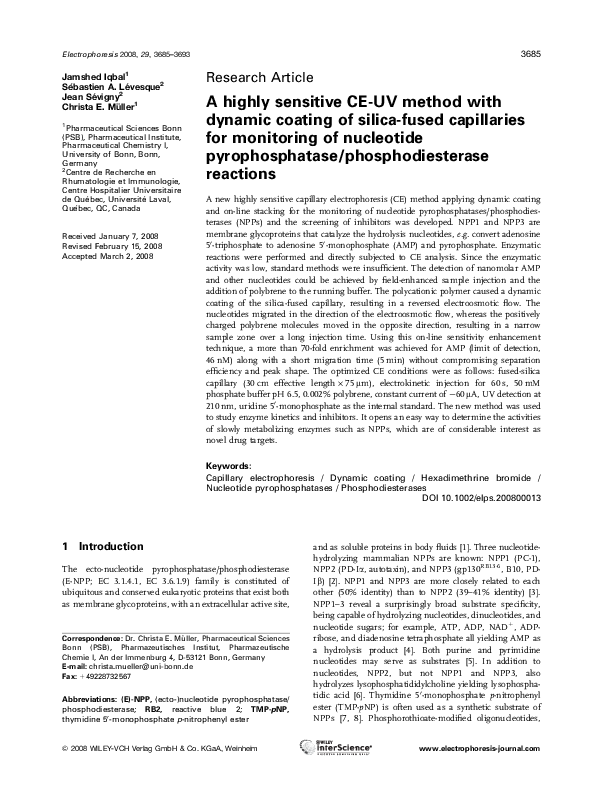 PDF) A highly sensitive CE-UV method with dynamic coating of