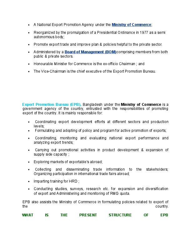 DOC) Assignment on export promotion bureau of bangladesh