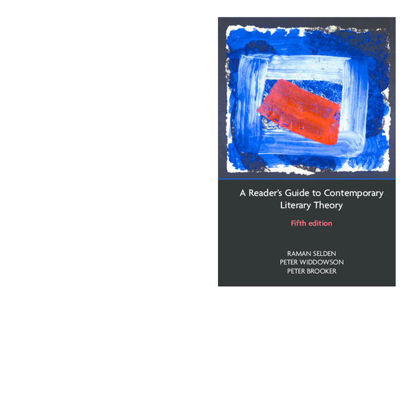 PDF) A Reader's Guide to Contemporary Literary Theory Fifth edition