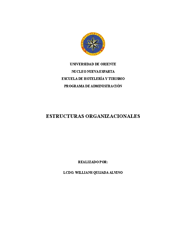Doc Tema Ii Estructura Organizacional 2 Adm Empresas