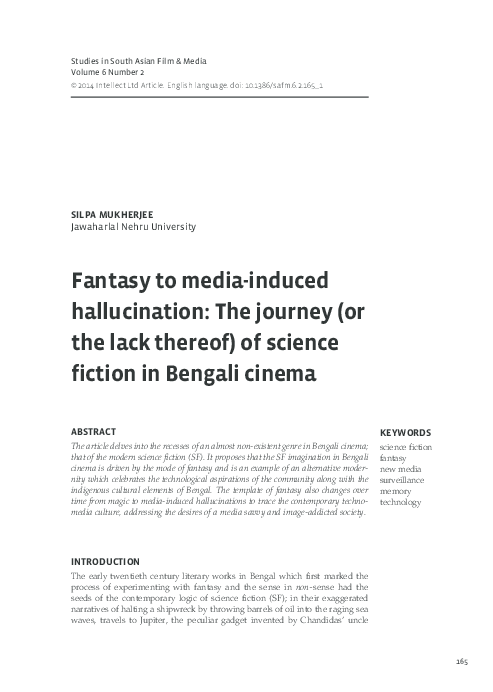 PDF) Fantasy to media-induced hallucination: The journey (or