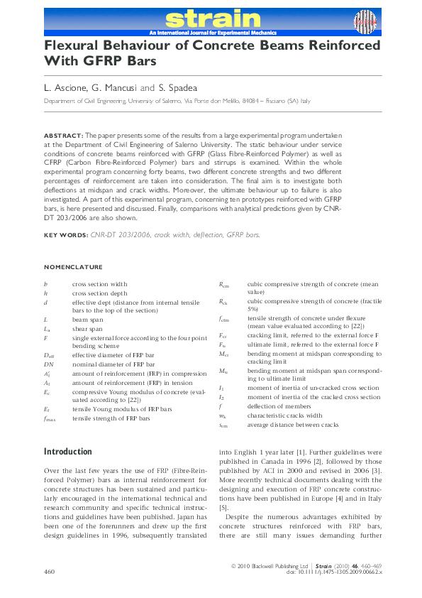 PDF) Flexural Behaviour of Concrete Beams Reinforced with