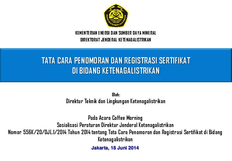 Pdf Tata Cara Penomoran Dan Registrasi Sertifikat Di Bidang