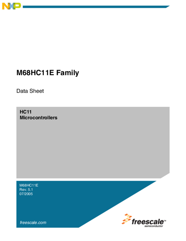 PDF) HC11 Microcontrollers M68HC11E Family | Jozsef Kovacs