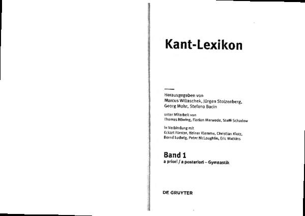 Pdf Kant Lexikon Abendmahl Andacht Anthropomorphismus