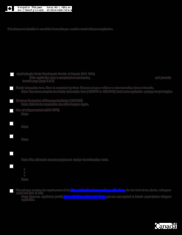 Pdf Document Checklist For A Study Permit Richard Atimniraye Academia Edu