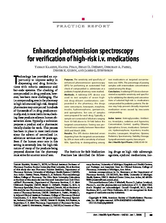 PDF) Enhanced photoemission spectroscopy for verification of