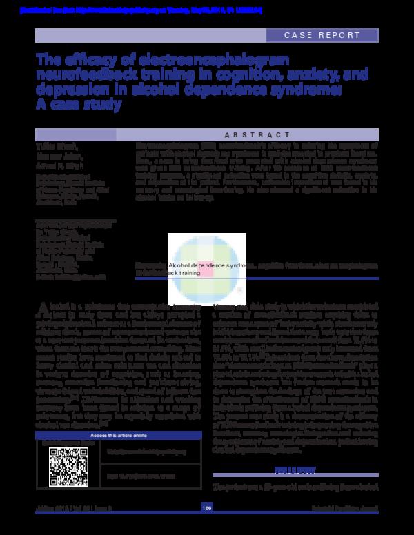 PDF) The efficacy of Electroencephalogram Neurofeedback