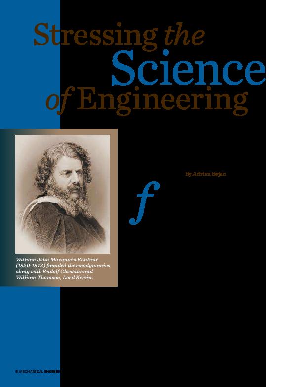 PDF) Stressing the Science of Engineering | Adrian Bejan