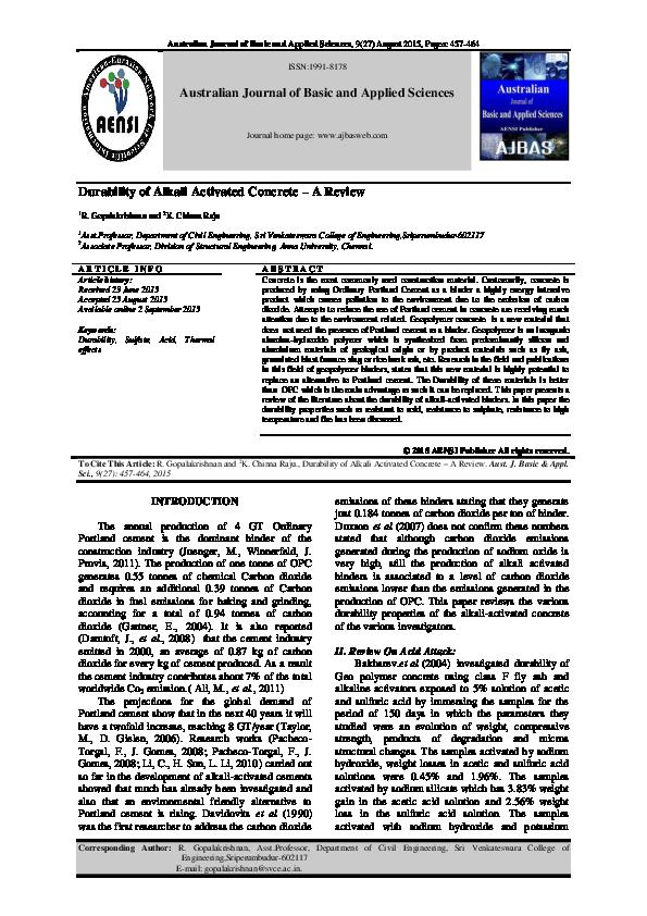 PDF) GK Journal.PDF | GOPALAKRISHNAN R CVE - Academia.edu