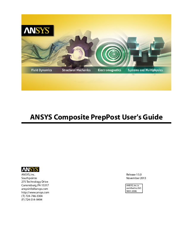 PDF) ANSYS Composite PrepPost User's Guide | Marcelo