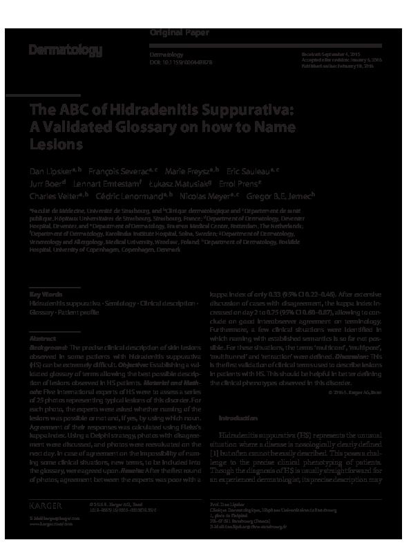 PDF) ABC HS Dermatology | Gregor Jemec - Academia edu
