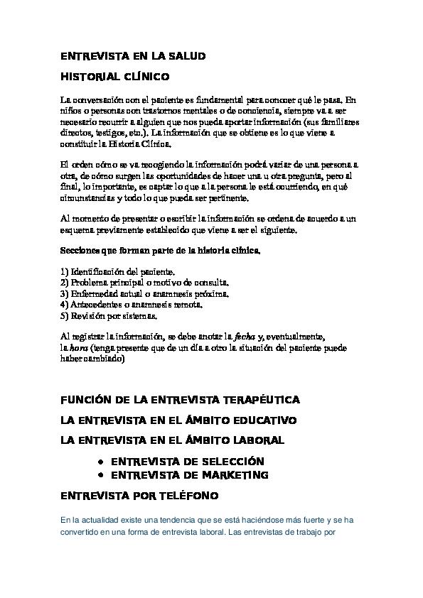 Doc Entrevista En La Salud Cinthya López Academia Edu