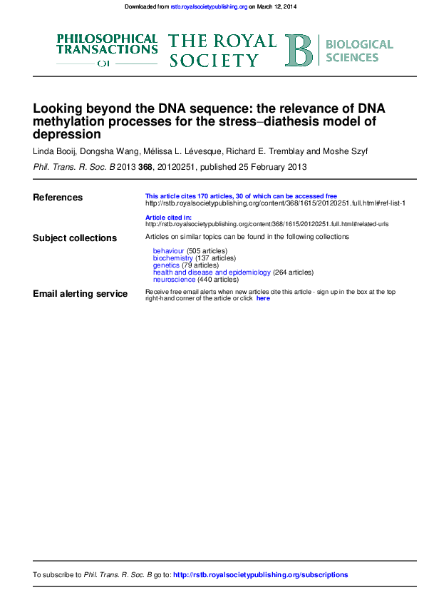 PDF) Looking beyond the DNA sequence: the relevance of DNA