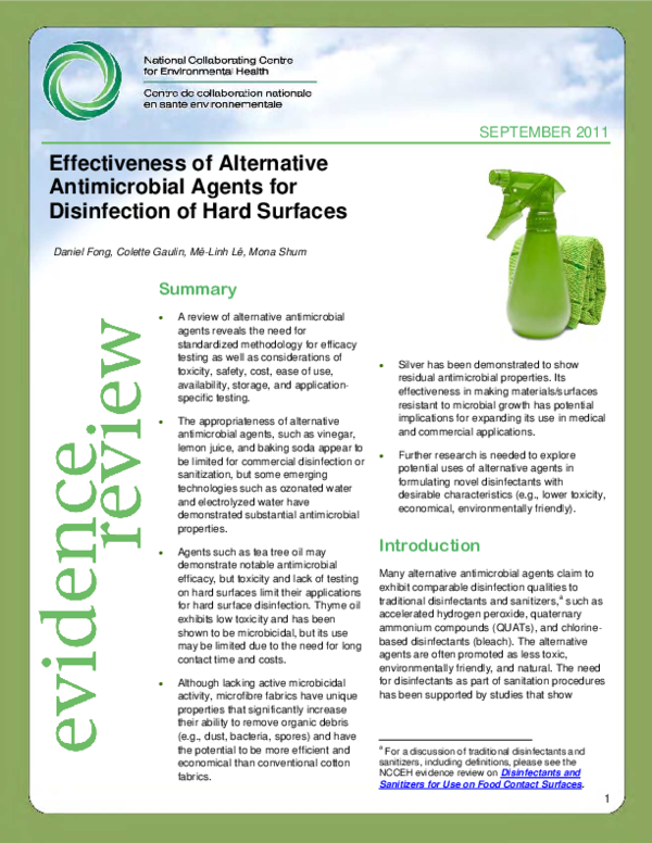 PDF) Effectiveness of Alternative Antimicrobial Agents for