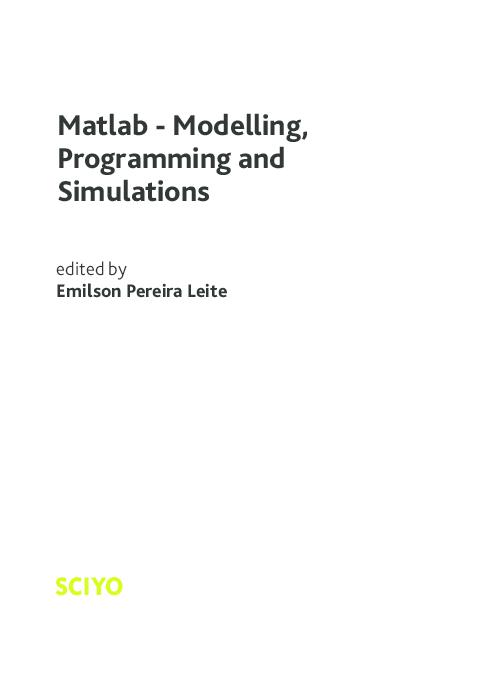 PDF) Matlab - Modelling, Programming and Simulations | João Fernando