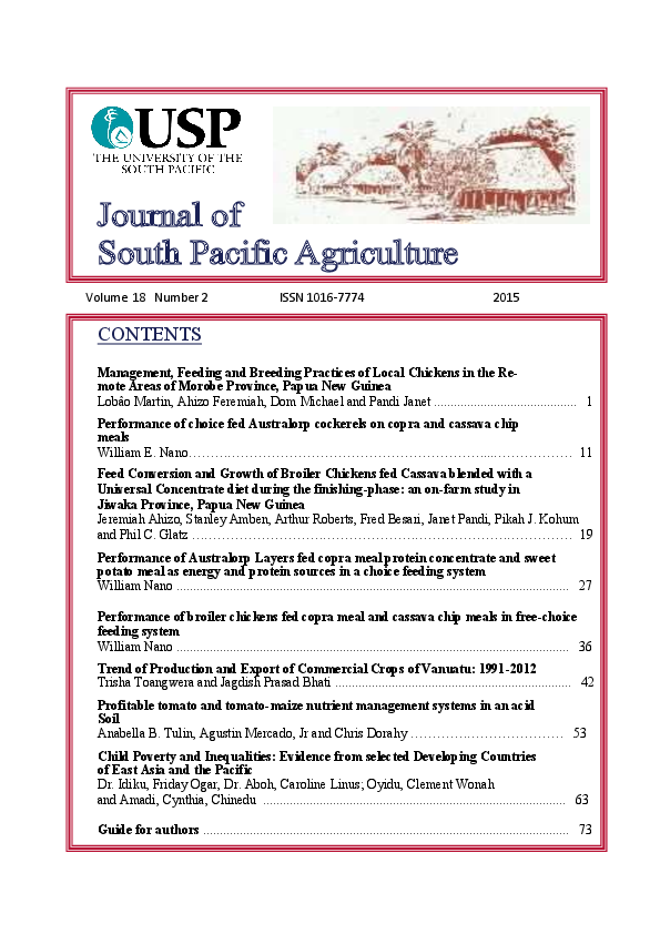 Management, Feeding and Breeding Practices of Local Chickens