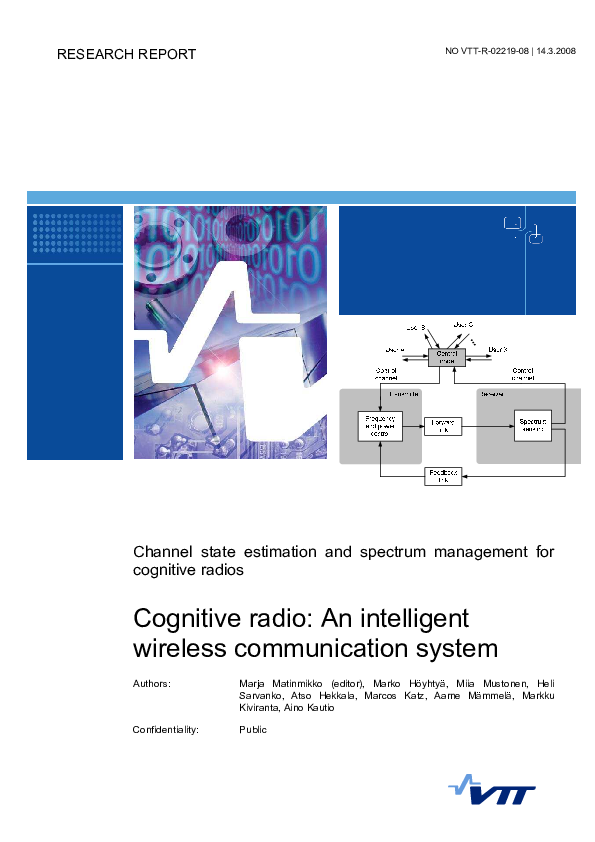 Pdf Channel State Estimation And Spectrum Management For Cognitive Radios Cognitive Radio An Intelligent Wireless Communication System Saurabh Khare Academia Edu