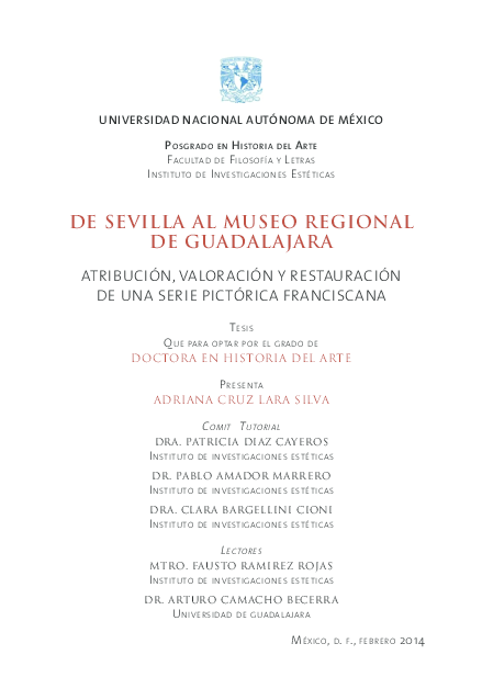 PDF) De Sevilla al Museo Regional de Guadalajara  Atribución