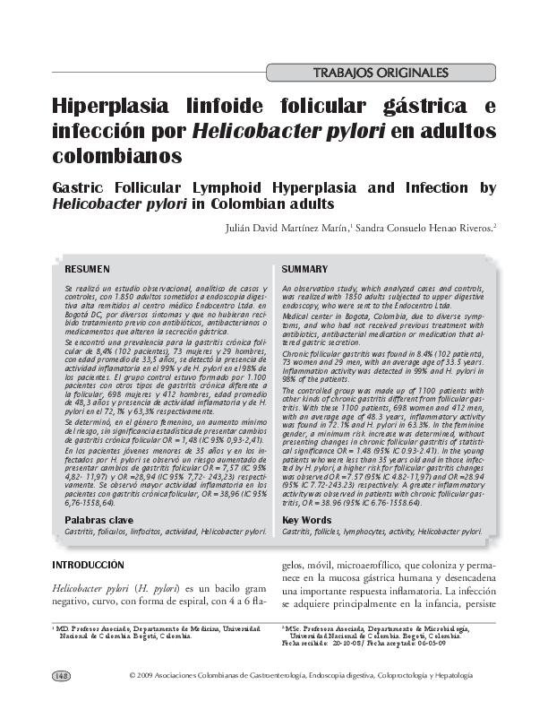 gastritis cronica no atrofica moderada sin actividad