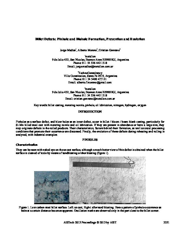 surface pinhole