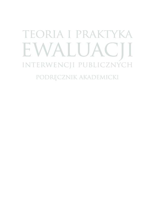 Pdf Teoria I Praktyka Ewaluacji Interwencji Publicznych