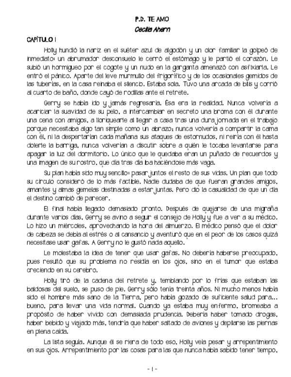 Cecelia ahern nombres pdf cien CECELIA AHERN