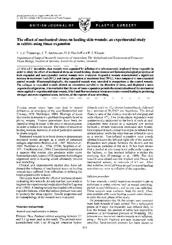 Experimental Studies on the Effect of Lidocaine on Wound