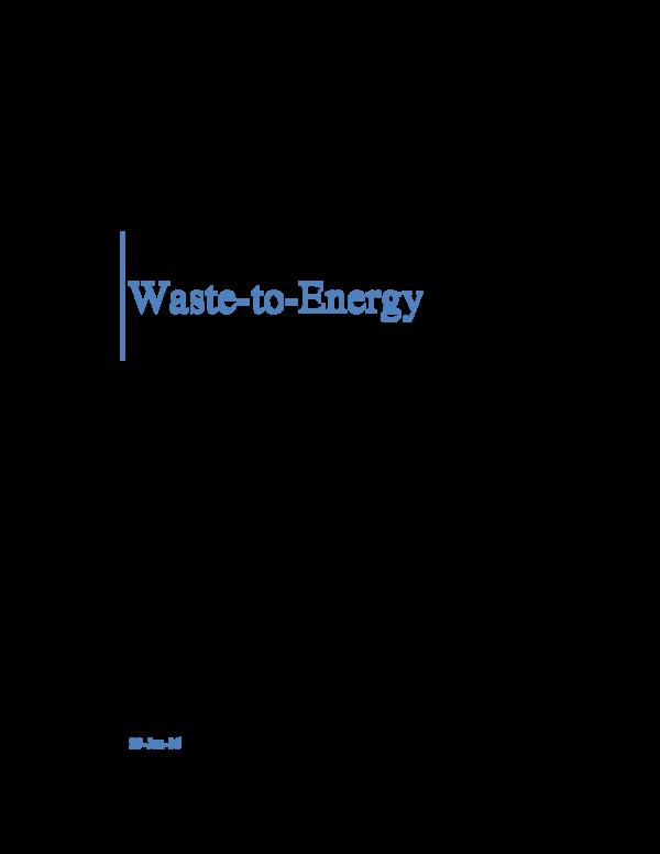 PDF) Waste-to-Energy | Stevie Roulle - Academia edu